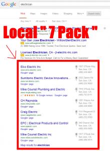 RGV SEO-Google 7 Pack